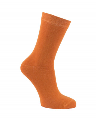 Chaussettes unies en bambou orange