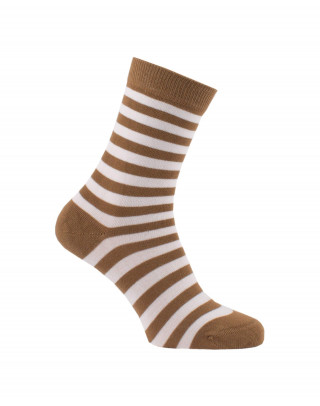 Chaussettes rayures fines blanc