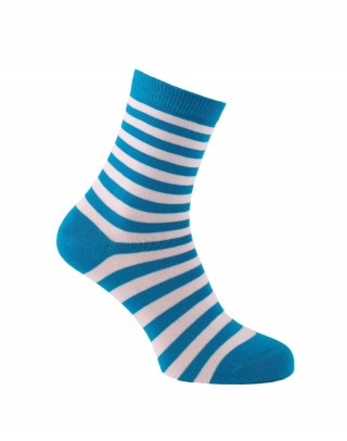 Turquoise thin stripes socks