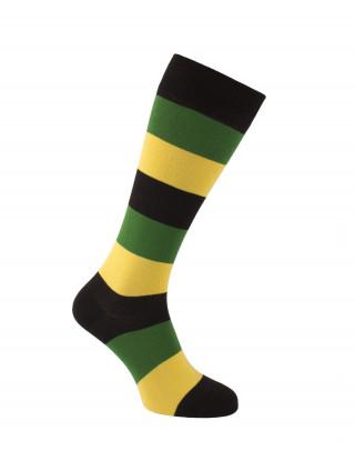 Tricolour stripes riding socks
