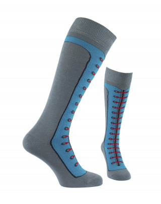 Lace up boots riding socks