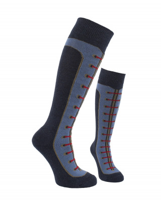 Shoelace padded junior knee socks