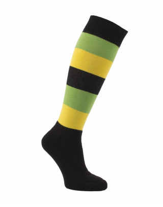 Padded tri-color striped knee high socks