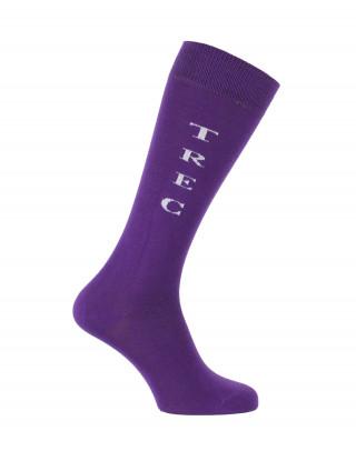 Chaussettes d'équitation TREC Violet
