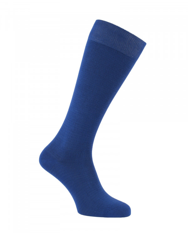 Chaussettes d'équitation unies en bambou bleues