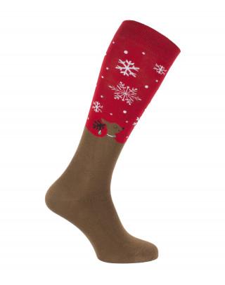 Queen of Reindeers Xmas riding socks