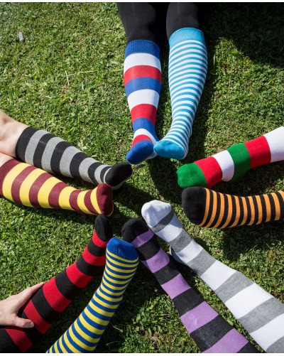25 paires of striped riding socks - past collections