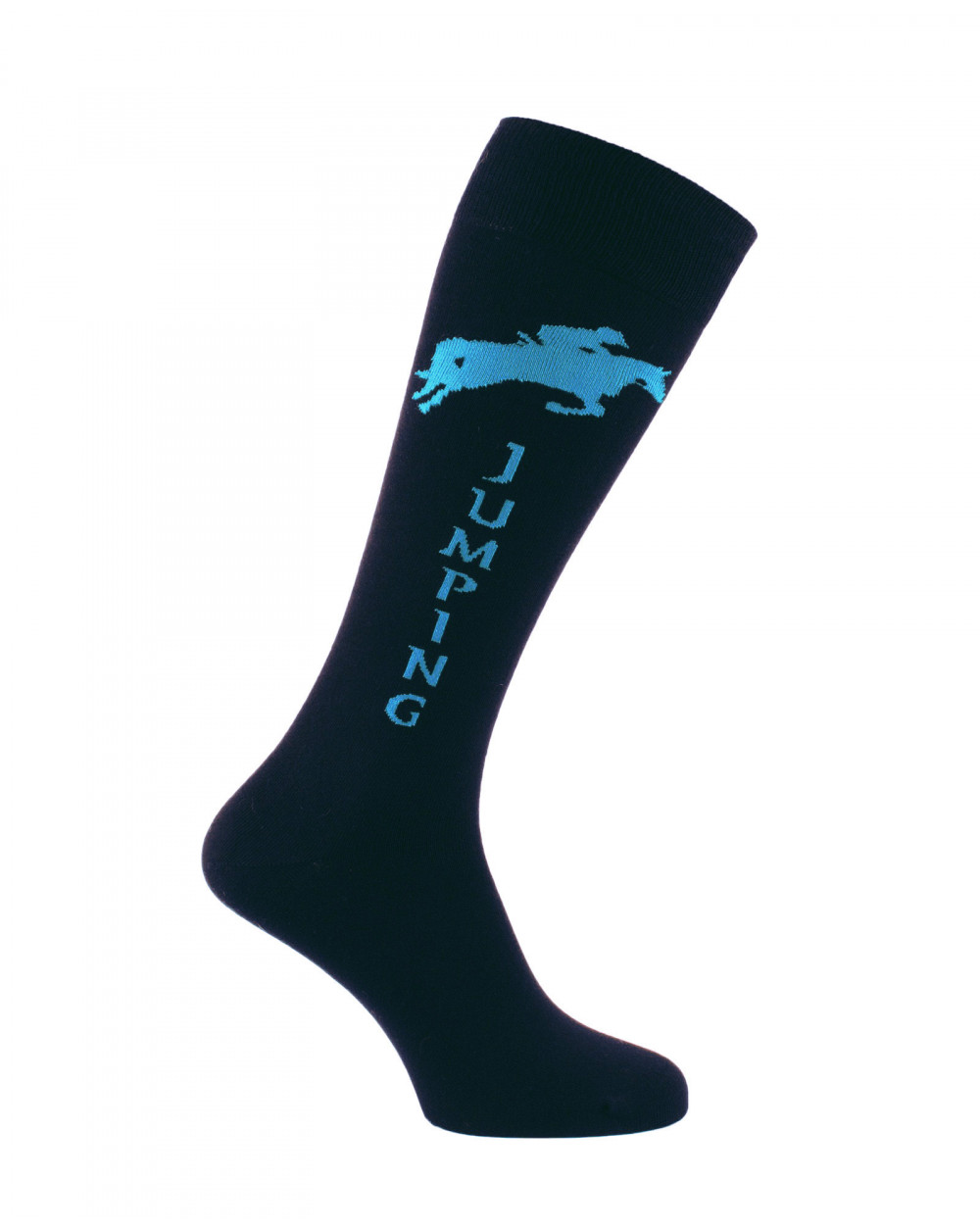Chaussettes d'équitation Champion Jumping en noir et turquoise