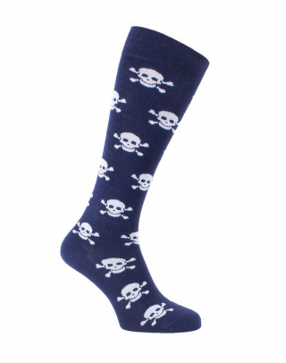 Skull knee high socks