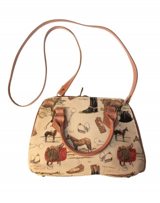 Handbag with horse motives
