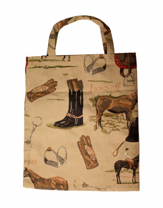 Shopping bag with horse motives