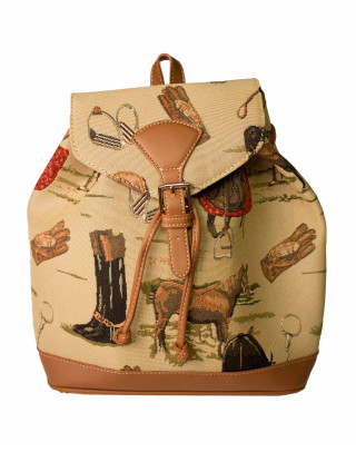 Backpack with horse motives