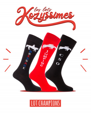 Pack of 3 Champions riding socks