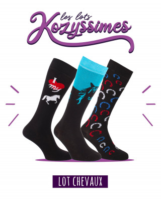 Pack of 3 Horses riding socks