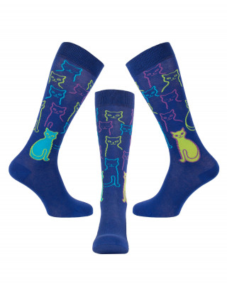 Riding socks with colourful cats