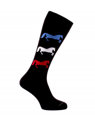 3 Horses riding socks