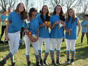 Club d'équitation équipé en chaussettes rayées KozySocks